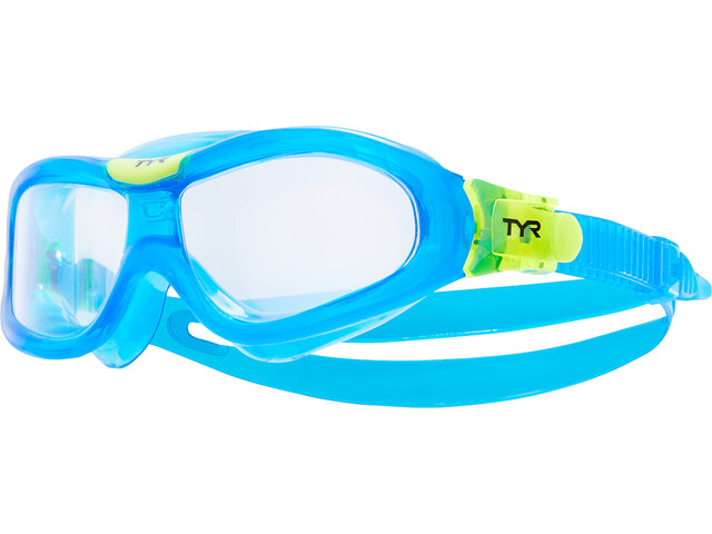 TYR Orion Masque de natation Enfant, clear/blue/blue